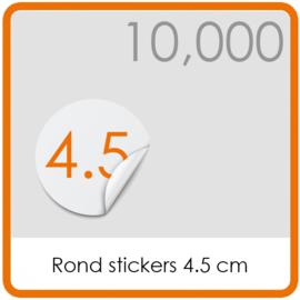 Stickers op rol - rond Stickers 4,5 cm - 10,000 stk.