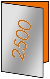 2500 X A3 Lang 14 x 29.7cm 4-zijdig 135gr.