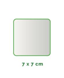Vierkant  stickers Vinyl  7x7cm min. 15 stuks