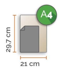 Outdoor Premium stickers, A4 (21 x 29,7 cm)  , full colour, enkelzijdig bedrukt