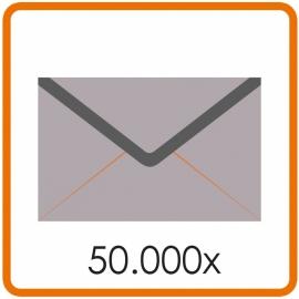 50.000 X Enveloppen 15.5 X 15.5cm enkelzijdig full colour