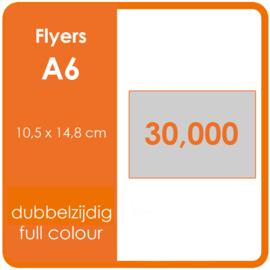 Formaat A6 (10,5 x 14,8 cm) 170gr, offset dubbelzijdig full colour, 30.000 stuks.