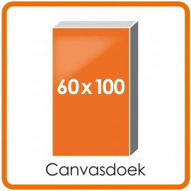 Canvasdoek mat houten frame 60 x 100 cm.