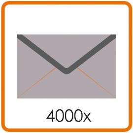 4000 X Enveloppen C5 16.2X22.9cm enkelzijdig full colour