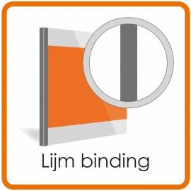 Inbinden zonder kaft - Narrow Lijm Rug  (Prijs per book of 3-125 Sheets - 80gr paper. prijs is alleen voor de lijm streep, zonder voor en achter covers)