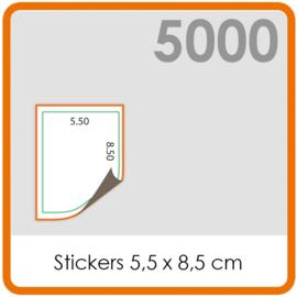 Stickers op rol - Stickers 5,5 x 8,5 cm - 5000 stk.