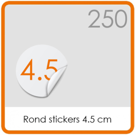 Stickers op rol - rond Stickers 4,5 cm - 250 stk.