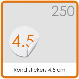 Stickers op rol - rond Stickers 4,5 cm - 250 stk.
