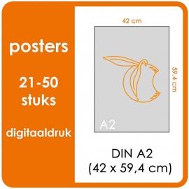 A2 Posters - prijsgroep voor 21 t/m 20 stuks. Print Formaat: 590mm x 420mm. Posterpapier: PrimeArt Semi-Gloss 200 gm² (Prijs Per stuk)