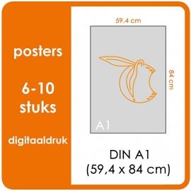 A1 Posters - prijsgroep voor 6 t/m 10 stuks. Print Formaat: 840mm x 594mm. Posterpapier: PrimeArt Semi-Gloss 200 gm² (Prijs Per stuk)