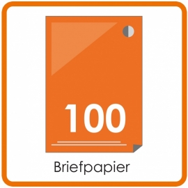 100 X A4 Briefpapier 29.7x21cm enkelzijdig full colour Digital