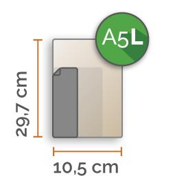 A5 lang Vinyl stickers min. 2 stuks (10,5 cm x 29,7 cm)