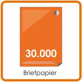 30000 X A4 Briefpapier 29.7x21cm enkelzijdig full colour offset