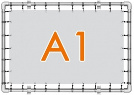 Banner spandoek A1 - 59,4 cm x 84,1 cm - 4/0 enkelzijdig full colour