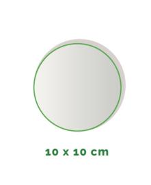 Stickers outdoor - rond doorsnede 10 cm - 4/0 kleurig min. 12 stuks Levertijd: 1 werkdag.