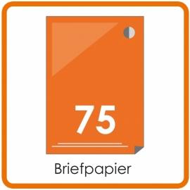 75 X A4 Briefpapier 29.7x21cm enkelzijdig full colour Digital