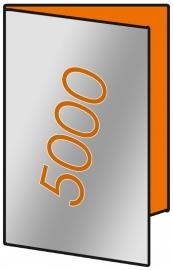 5000 X A3 Lang 14 x 29.7cm 4-zijdig 135gr.