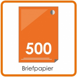 500 X A4 Briefpapier 29.7x21cm enkelzijdig full colour Digital