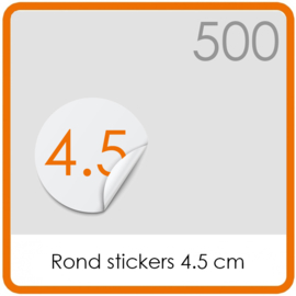 Stickers op rol - rond Stickers 4,5 cm  - 500 stk.