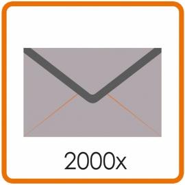 2000 X Enveloppen C5 16.2X22.9cm enkelzijdig full colour
