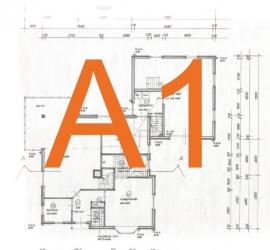 Bouwtekening A1 - 59,4 x 84,1 cm.