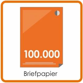 100.000 X A4 Briefpapier 29.7x21cm enkelzijdig full colour offset
