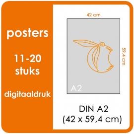 A2 Posters - prijsgroep voor 11 t/m 20 stuks. Print Formaat: 590mm x 420mm. Posterpapier: PrimeArt Semi-Gloss 200 gm² (Prijs Per stuk)