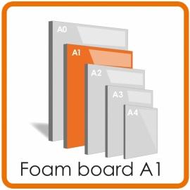 A1 Foamboard -  59.4 x 84.1cm  (5 mm) LET OP: Wij bezorgen geen A1 en A2 Foamboards als gevolg van evt schade door de postverzending. Graag alleen ophalen s.v.p.