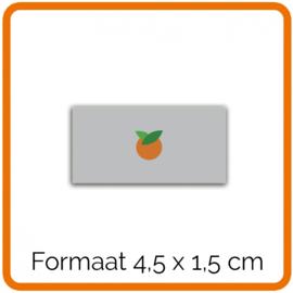 Outdoor Premium stickers, Formaat 4,5 x 1,5 cm   , full colour, enkelzijdig bedrukt