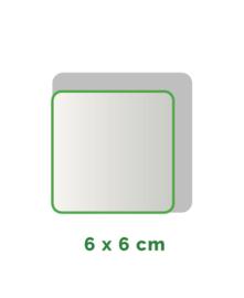 Vierkant  stickers Vinyl  6x6cm min. 20 stuks