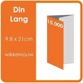 Folders,  eindformaat: Din Lang 9.8 x 21cm. vouwwijze: Wikkelvouw 6-zijdig. bedrukking: dubbelzijdig full colour. materiaal: 300gr. aantal: 15,000 st.