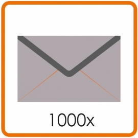 1000 X Enveloppen EA5/6 11 X 22cm enkelzijdig full colour