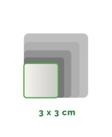 Vierkant  stickers Vinyl  3x3cm min. 50 stuks