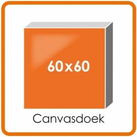Canvasdoek mat houten frame 60 X 60 cm.