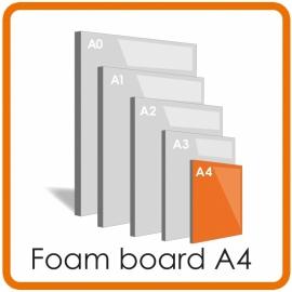 A4 Foamboard - 21.0 x 29.7cm  (5 mm)