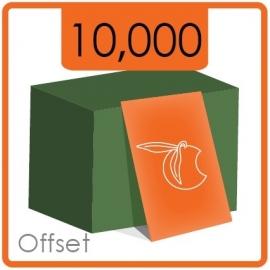 Visitekaartjes klassiek  -  formaat 8,5 x 5,5 cm  -  enkelzijdig  4/0 Kleur -  Materiaal 350g druk mat  - 10.000 Stuks.