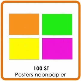 100 X A3 (42 x 29.7cm) Posters neonpapier