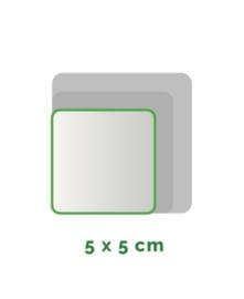 Vierkant Outdoor Premium stickers 5 x 5 cm 4/0 full colour, enkelzijdig bedrukt, CMYK