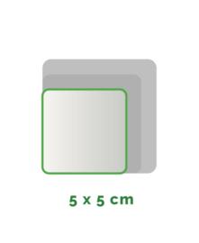 Vierkant  stickers Vinyl  5x5cm min. 30 stuks