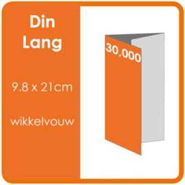 Folders, eindformaat: Din Lang 9.8 x 21cm. vouwwijze: Wikkelvouw 6-zijdig. bedrukking: dubbelzijdig full colour. materiaal: 300gr. aantal: 30,000 st.
