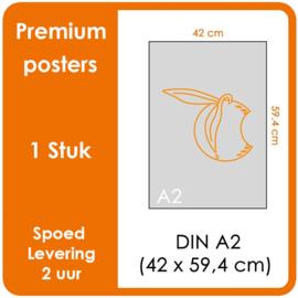 A2 Posters - Premium posters.   Print Formaat: 420mm x 594mm.  Posterpapier: photo paper mat 200 gm²  [1 STUK]