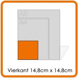 Vierkant Flyers 14.8 cm x14.8 cm digitaal afdruk, enkelzijdig, full colour - 250 St.