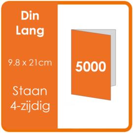 Folders (met vouw) DIN lang 9,8 x 21 cm Staand 4-zijdig 4/4 dubbelzijdig full colour Aantal: 5.000 stuks