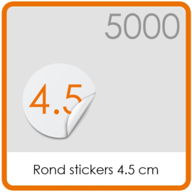 Stickers op rol - rond Stickers 4,5 cm - 5000 stk.