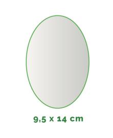 Stickers outdoor - ovaal 9.5 cm x 14 cm - 4/0 kleurig min. 12 stuks Levertijd: 1 werkdag.