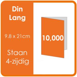 Folders (met vouw) DIN lang 9,8 x 21 cm Staand 4-zijdig 4/4 dubbelzijdig full colour Aantal: 10.000 stuks