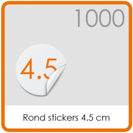 Stickers op rol - rond Stickers 4,5 cm - 1000 stk.