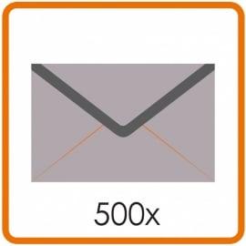 500 X Enveloppen C5 16.2X22.9cm enkelzijdig full colour