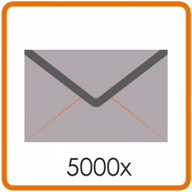 5000 X Enveloppen C5 16.2X22.9cm enkelzijdig full colour