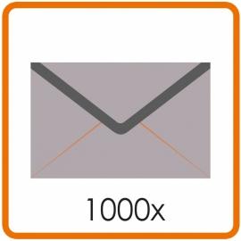 1000 X Enveloppen C5 16.2X22.9cm enkelzijdig full colour